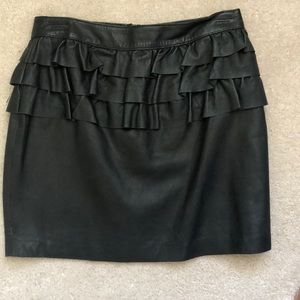 H&M trend collection leather skirt